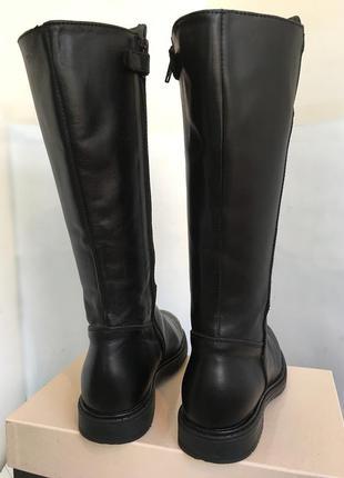 Сапоги кожаные демисезонные, актуальная модель, 33/34 размер.4