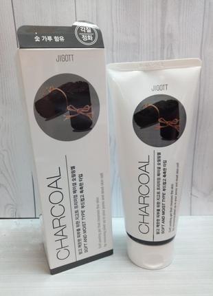 Пилинг-гель для лица с углем jigott premium facial charcoal peeling gel
