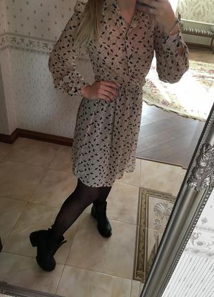 Милое платье шифон