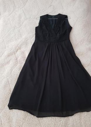 Платье коктельное/вечернее черного цвета и к нему шаль в подарок!