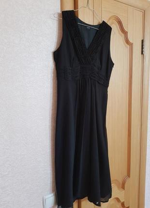 Платье коктельное/вечернее черного цвета и к нему шаль в подарок!2