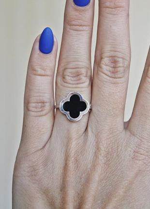 Серебряное кольцо с золотом шик (р.19) родированное4