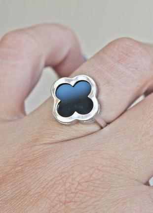 Серебряное кольцо с золотом шик (р.19) родированное1