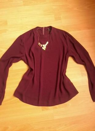 Шифоновая блузка 14р бордо !!! atmosphere1