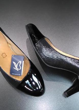 Туфли из натуральной кожи немецкого бренда caprice черные, р. 39, 404