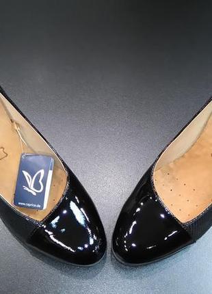 Туфли из натуральной кожи немецкого бренда caprice черные, р. 39, 405