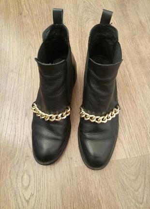 Стильные ботинки челси натуральная кожа размер 392