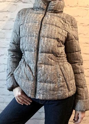 Непромокаемая тёплая осенняя зимняя демисезонная спортивная куртка с капюшоном скрытым1