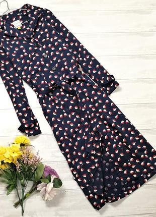 Очень стильное платье-рубашка 180723 people tree размер uk12 (m)2