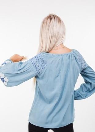 Современная вышиванка вышитая блуза блузка с вышивкой вишиванка вишита сорочка2