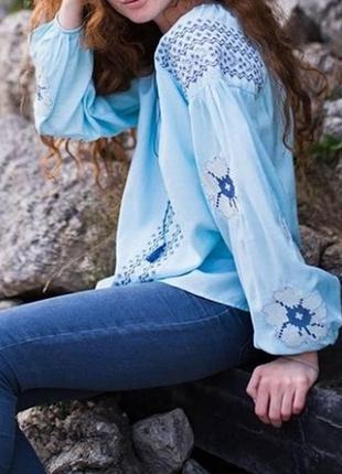 Современная вышиванка вышитая блуза блузка с вышивкой вишиванка вишита сорочка4
