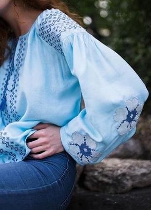 Современная вышиванка вышитая блуза блузка с вышивкой вишиванка вишита сорочка5