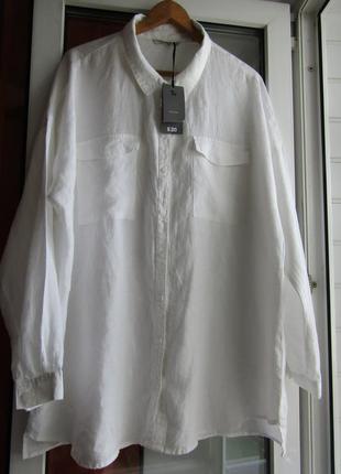 Рубашка 100%лён,большой размер1