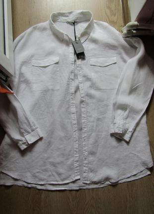 Рубашка 100%лён,большой размер2