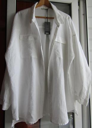 Рубашка 100%лён,большой размер5
