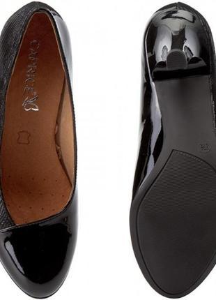 Туфли из натуральной кожи немецкого бренда caprice черные, р. 39, 402
