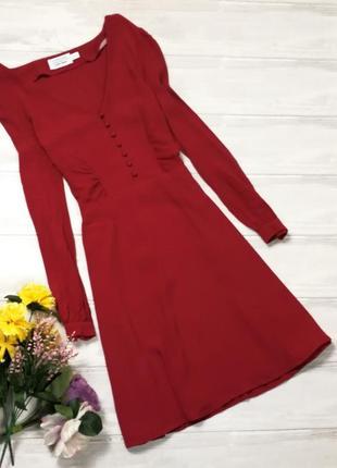 Приталенное красное платье 180851 & other stories размер eur40 (m)2