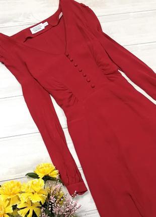 Приталенное красное платье 180851 & other stories размер eur40 (m)1