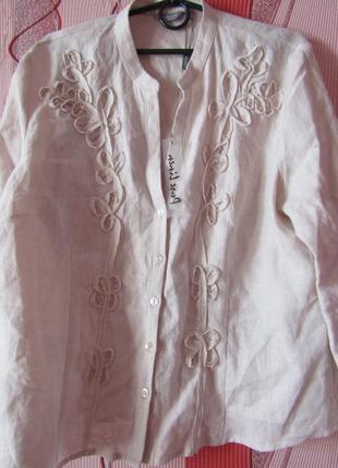 Блуза льон большой размер2