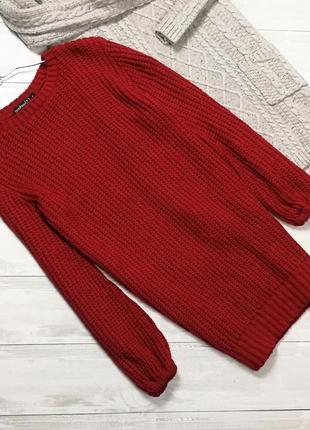 Красный свитер-платье 181112 boohoo размер s1