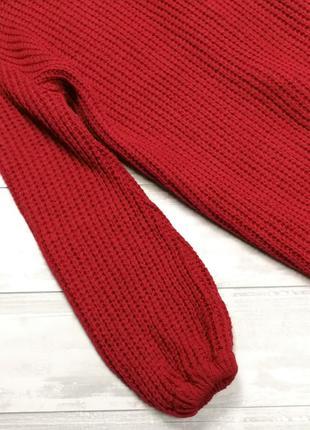 Красный свитер-платье 181112 boohoo размер s3