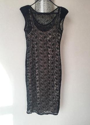 Платье с гипюром2