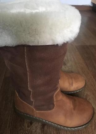 Сапоги кожаные с овчиной fat face очень теплые1