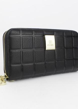 Кошелек женский кожаный на молнии 2-002-01 черный, расцветки1