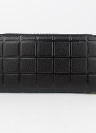 Кошелек женский кожаный на молнии 2-002-01 черный, расцветки4