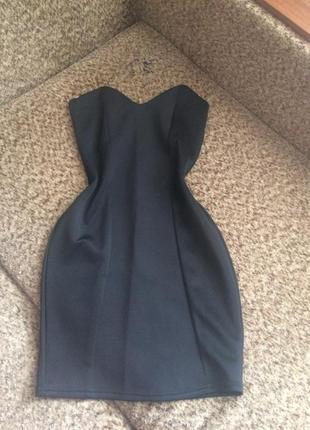 Стильное платье бюстье1