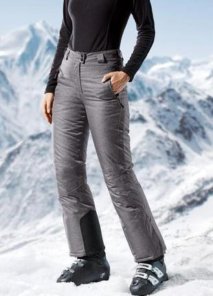 Женские лыжные штаны crivit® ветрозащитная и водонепроницаемая система. 42 евро1
