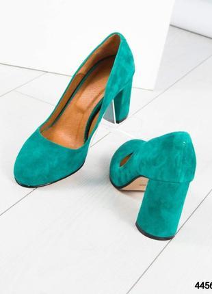 Замшевые туфли устойчивом каблуке рр. 36-403