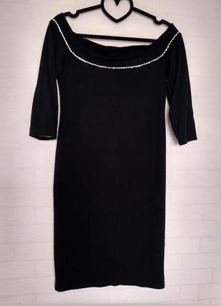 Платье мини открытые плечи1