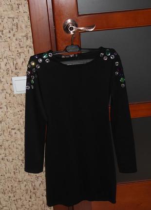 Чорне міні плаття1