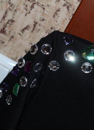 Чорне міні плаття3