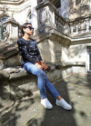 Женский свитер h&m шерстяной синего цвета3