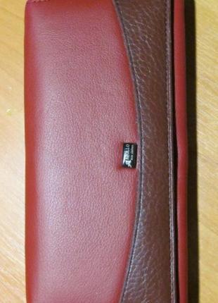 Кожаный женский кошелек жіночий шкіряний гаманець1