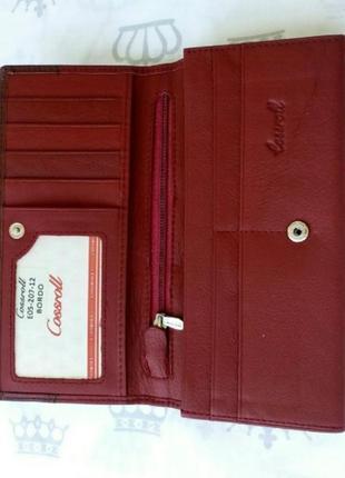 Кожаный женский кошелек жіночий шкіряний гаманець2