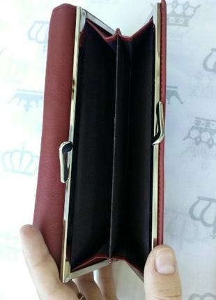 Кожаный женский кошелек жіночий шкіряний гаманець3