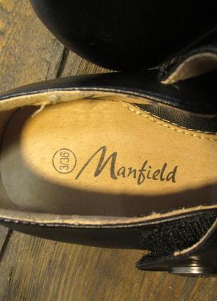 Туфли manfield, 36 (23.5 см), кожзам, отл сост!3
