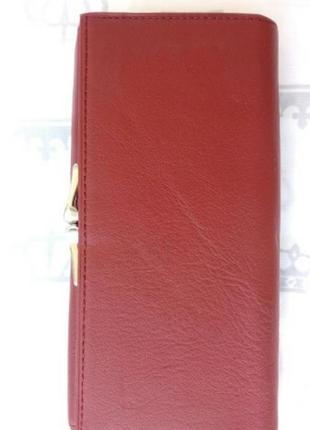 Кожаный женский кошелек жіночий шкіряний гаманець4