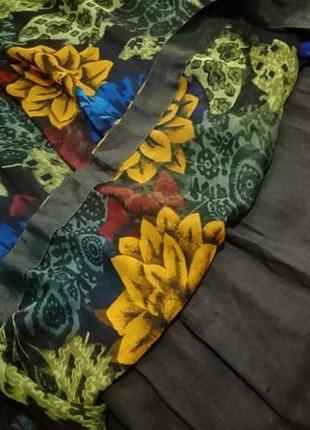 Юбка с цветочным принтом2