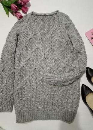 Удлененный теплый свитер1