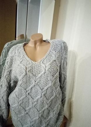 Удлененный теплый свитер2