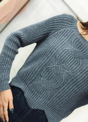 Тепленький укорочений світерок укорочённый свитер джемпер женский оверссйз xs/s/m2