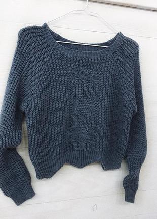 Тепленький укорочений світерок укорочённый свитер джемпер женский оверссйз xs/s/m3
