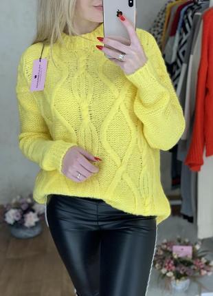 Тёплый стильный свитерок3