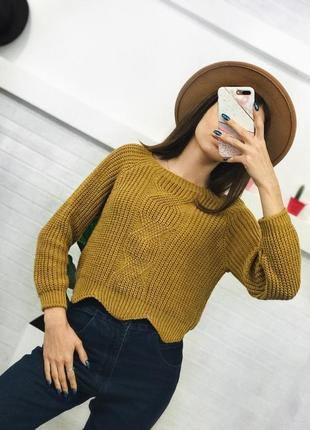 Тепленький укорочений світерок укорочённый свитер джемпер женский оверссйз xs/s/m1