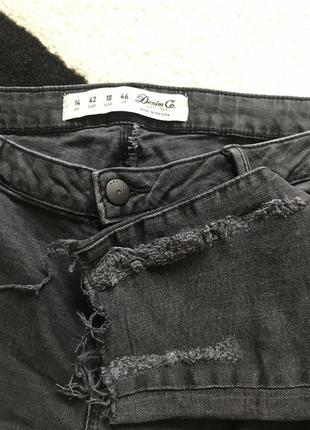 Крутые укороченные джинсы с потёртостямм denim &co 12-14 р!2