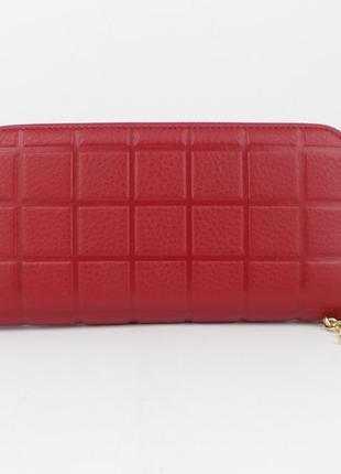 Кошелек женский кожаный на молнии 2-002-09 красный, расцветки2